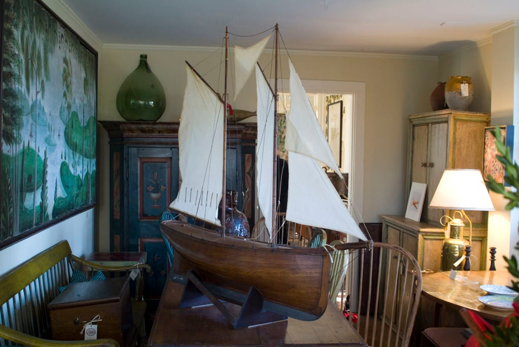English pond yacht at 1stdibs for Interior design 02554