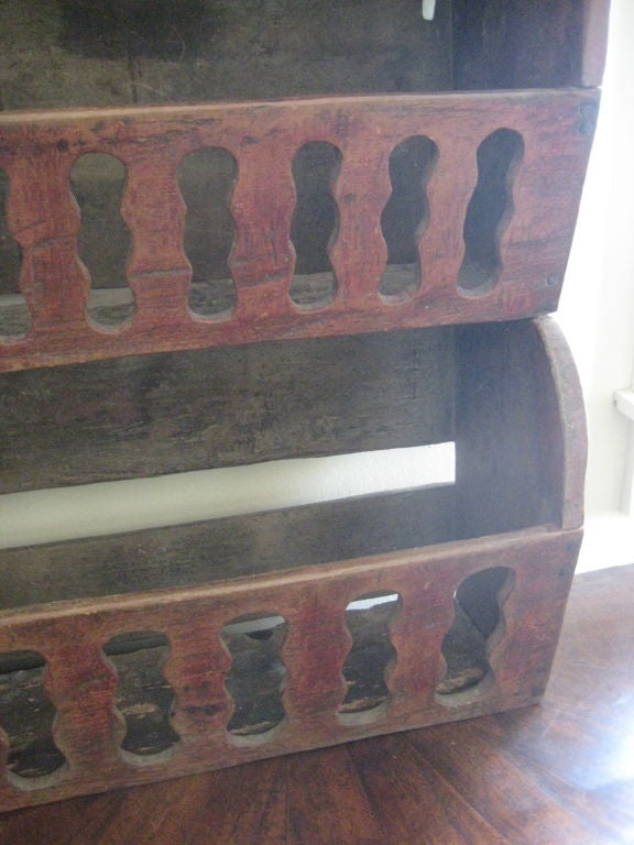 English Hanging Painted Vegetable Shelf For Sale At 1stdibs