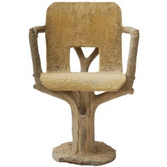 Faux Bois Cement Chair
