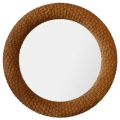 Large Sisal Frame Mirror