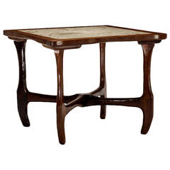 Rosewood and Marble Table, Don Shoemaker