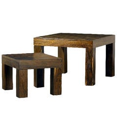 Two Rosewood Nesting Tables, Don Shoemaker