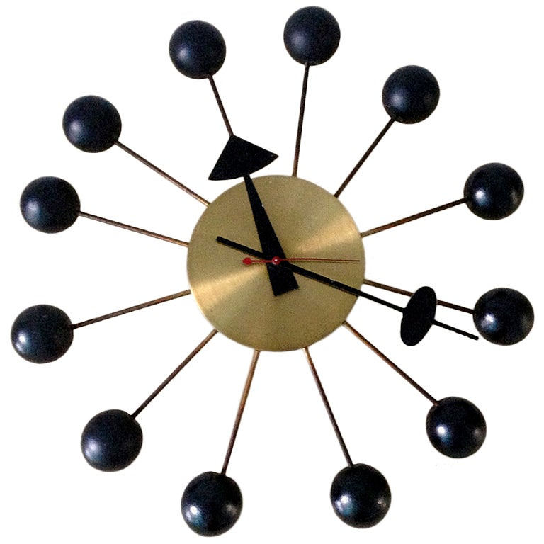 george nelson night clock replica vintage ball miller sunflower reproduction vitra desk