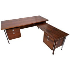 Large Danish Rosewood Executive Desk by Finn Juhl