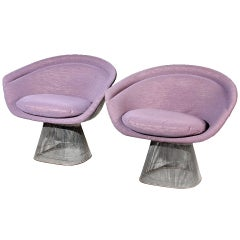 Pair of Warren Platner lounge chairs Knoll