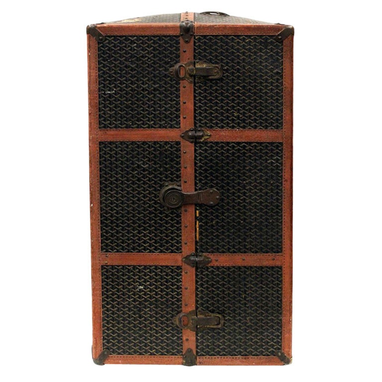 Rare Antique French Goyard Wardrobe Steamer Trunk