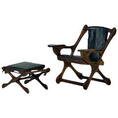 Rosewood Lounge Chair and Ottoman Don Shoemaker