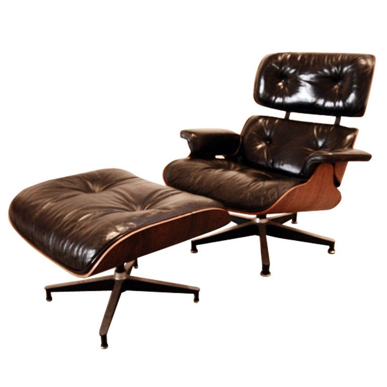 original charles eames lounge chair and ottoman at 1stdibs. Black Bedroom Furniture Sets. Home Design Ideas