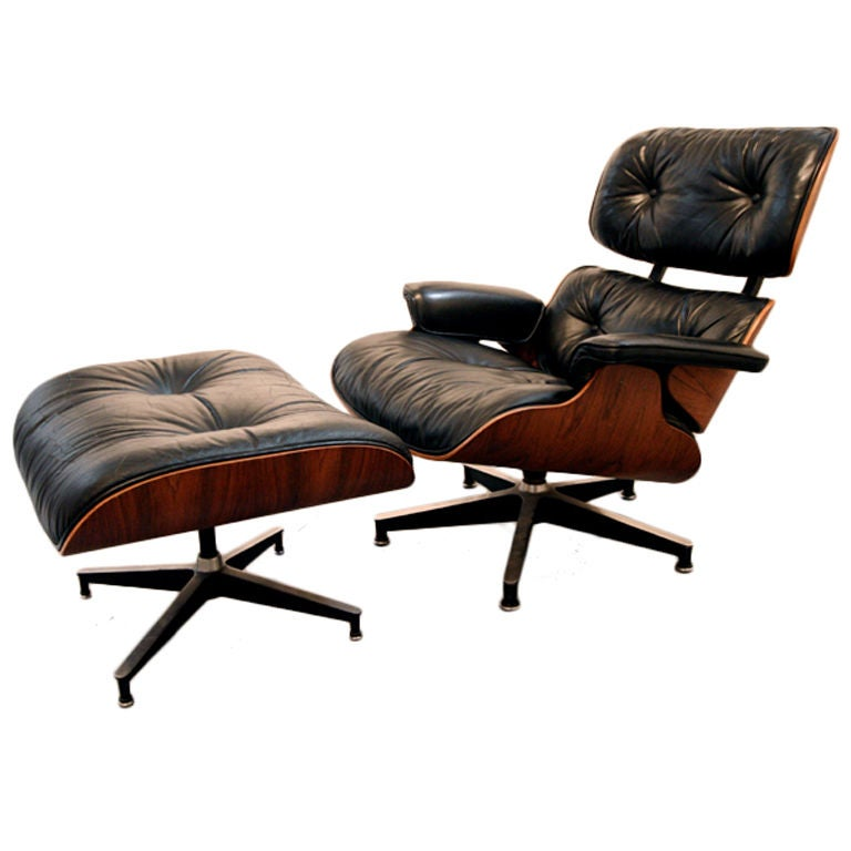original charles eames 670 671 lounge chair and ottoman at. Black Bedroom Furniture Sets. Home Design Ideas