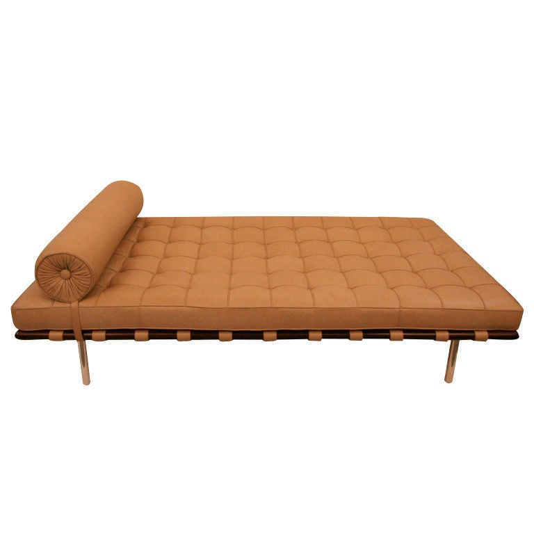mies van der rohe barcelona day bed by knoll at 1stdibs. Black Bedroom Furniture Sets. Home Design Ideas