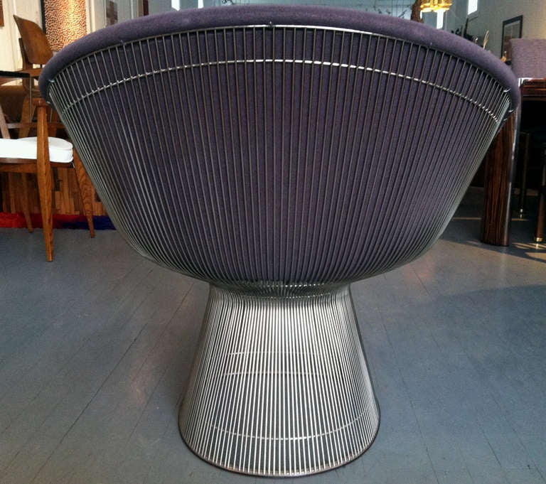 Pair of Warren Platner lounge chairs Knoll In Good Condition In North Miami, FL