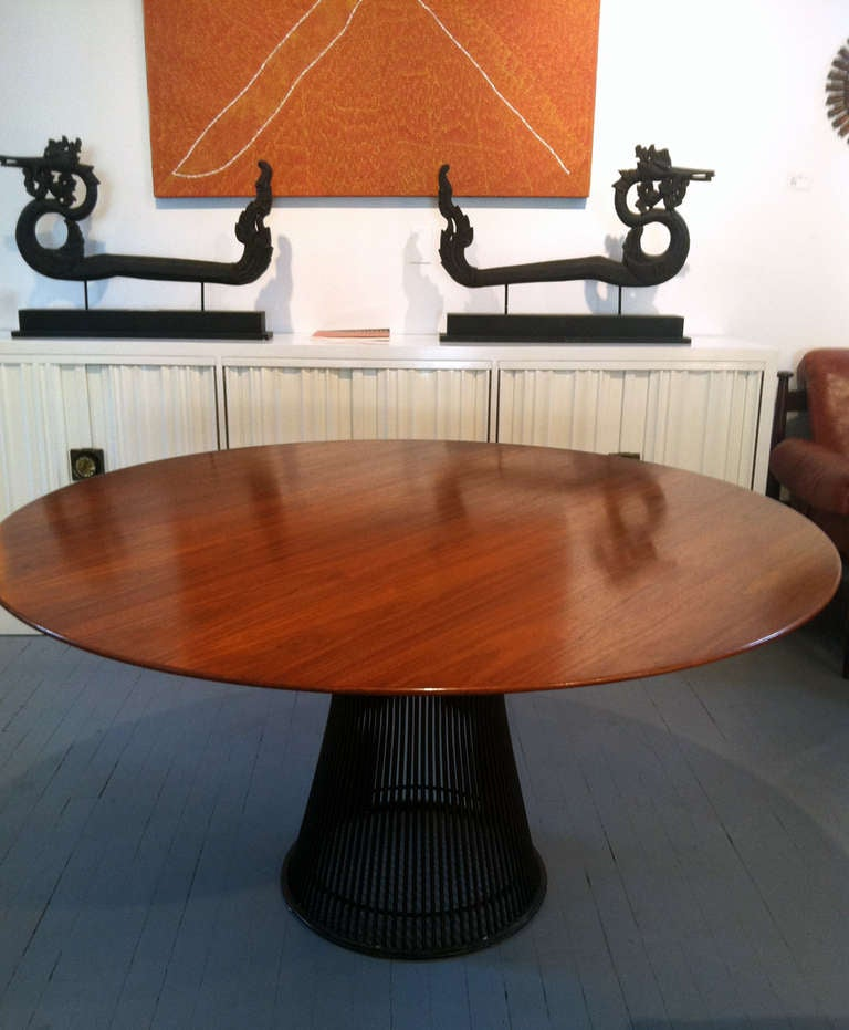 Vintage Warren Platner Round Dining Table Bronze Base  : IMG3720l from www.1stdibs.com size 768 x 931 jpeg 62kB