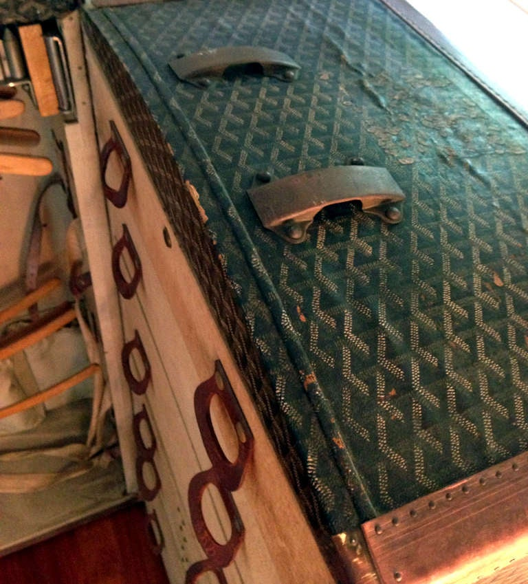 Rare Antique French Goyard Wardrobe Steamer Trunk 5