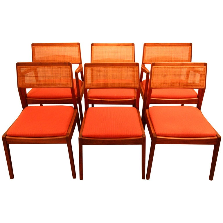 Six Jens Risom Dining Chairs At 1stdibs