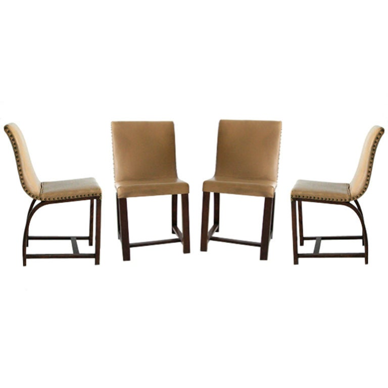 Set of Four Art Deco chairs Gilbert Rohde Heywood Wakefield For Sale