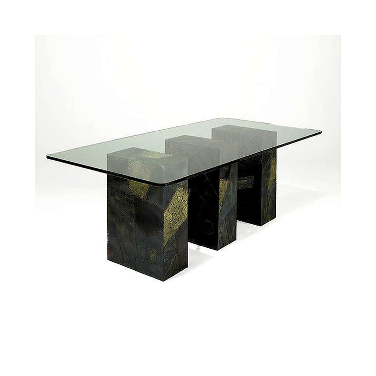 Paul Evans Sculpted Bronze Dining Table 2