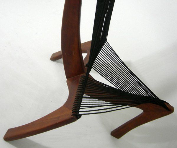 Mid-20th Century Harp Chair Attributed to Jorgen Hovelskov For Sale