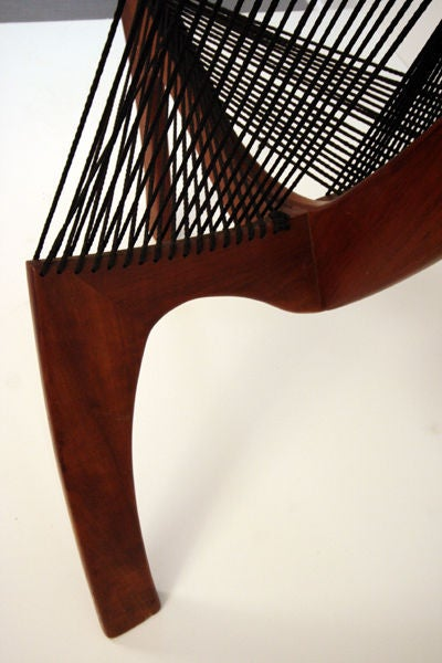 Harp Chair Attributed to Jorgen Hovelskov In Good Condition For Sale In North Miami, FL