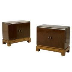 Pair of Art Deco Night Stand Cabinet