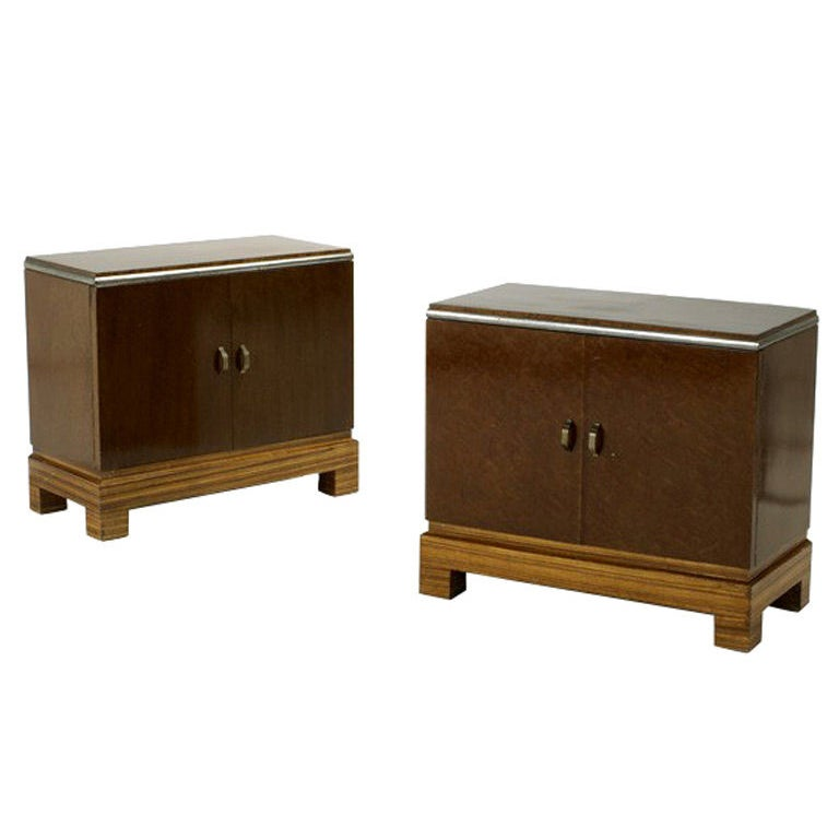 Pair Of Art Deco Night Stand Cabinet For Sale At 1stdibs