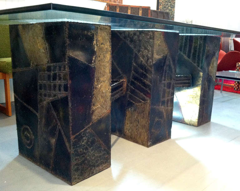 Paul Evans Sculpted Bronze Dining Table 4