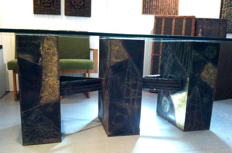 Paul Evans Sculpted Bronze Dining Table 5