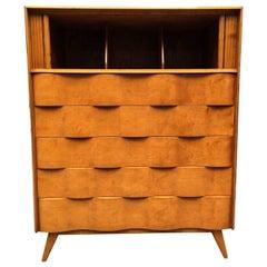 Wavy Front Tall Dresser by Edmond J. Spence
