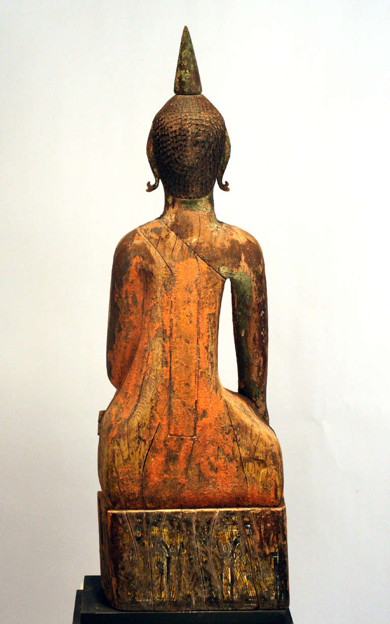19th Century Three Village Buddha Statues from Laos For Sale