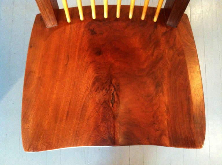 A Special Walnut Conoid Chair by George Nakashima For Sale 1
