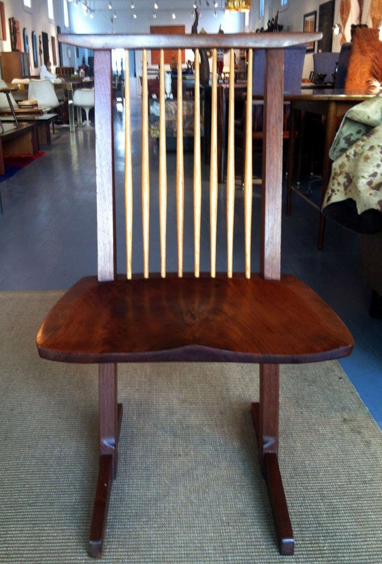 American Craftsman A Special Walnut Conoid Chair by George Nakashima For Sale