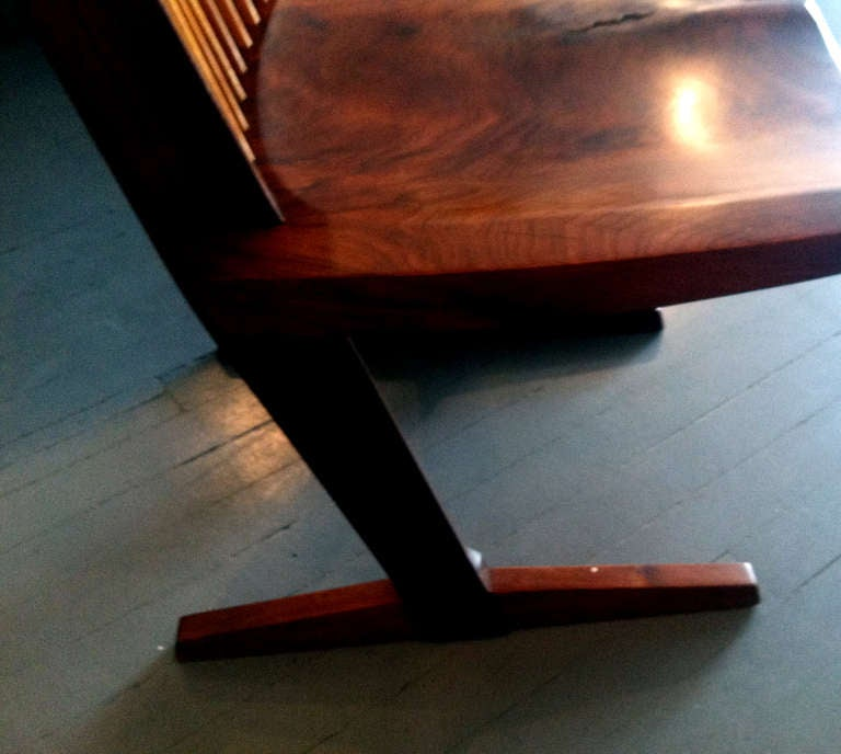 20th Century A Special Walnut Conoid Chair by George Nakashima For Sale