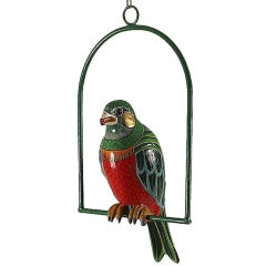 Editioned Hanging Parrot Sculpture Sergio Bustamante