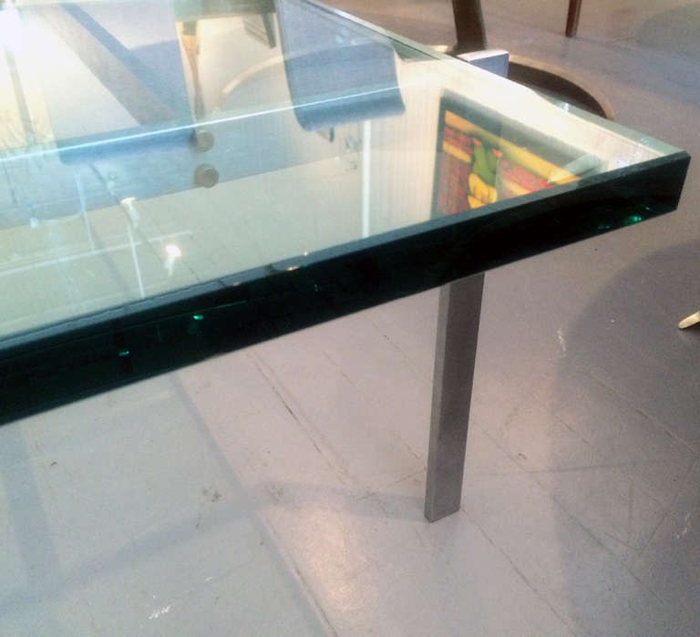 Danish glass top coffee table PK-61 Poul Kjaerholm For Sale 2