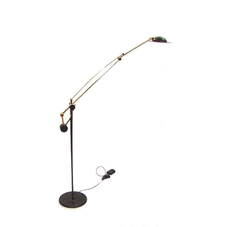 vintage italian cantilever arc bronze floor lamp relco at 1stdibs. Black Bedroom Furniture Sets. Home Design Ideas