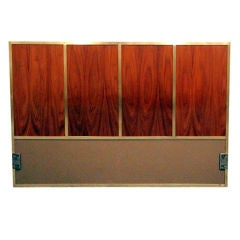 Walnut and Brass Headboard, Full-Size, Paul McCobb for Calvin