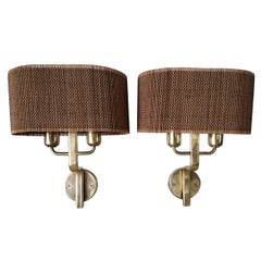 Pair of Rare and Early Wall Sconces by Paavo Tynell