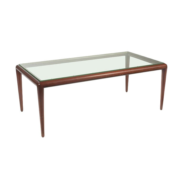 Glass top coffee table t h robsjohn gibbings widdicomb at for Coffee tables glass top
