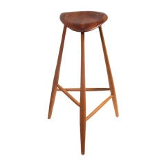 Studio crafted stool Wharton Esherick