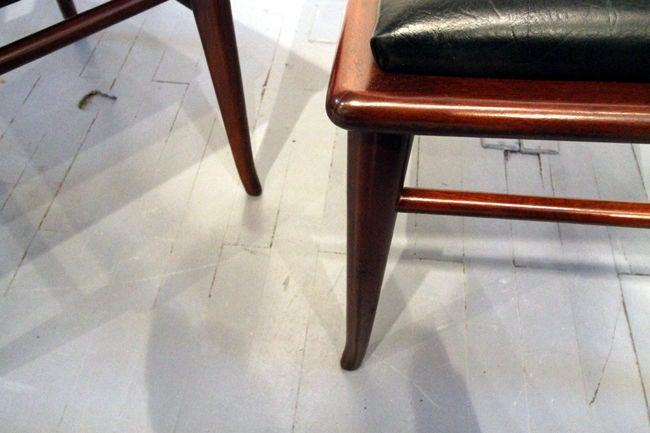 Mid-20th Century Set of Six walnut dining chairs T.H. Robsjohn-Gibbings Widdicomb For Sale