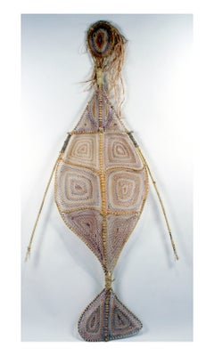 Australian Aboriginal Yawkyawk Fiber Sculpture