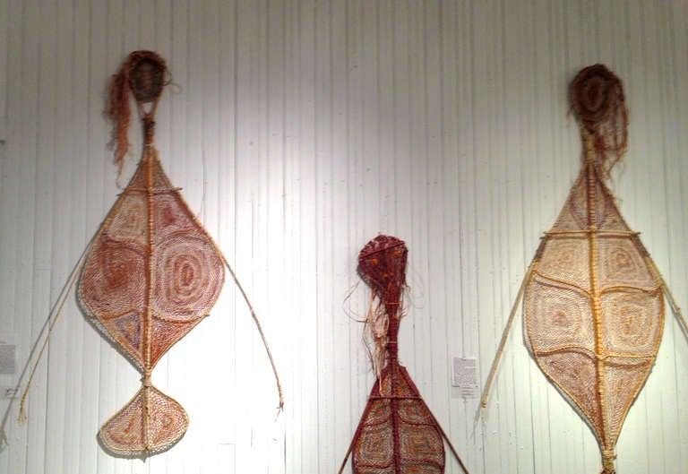 Contemporary Australian Aboriginal Yawkyawk Fiber Sculpture For Sale