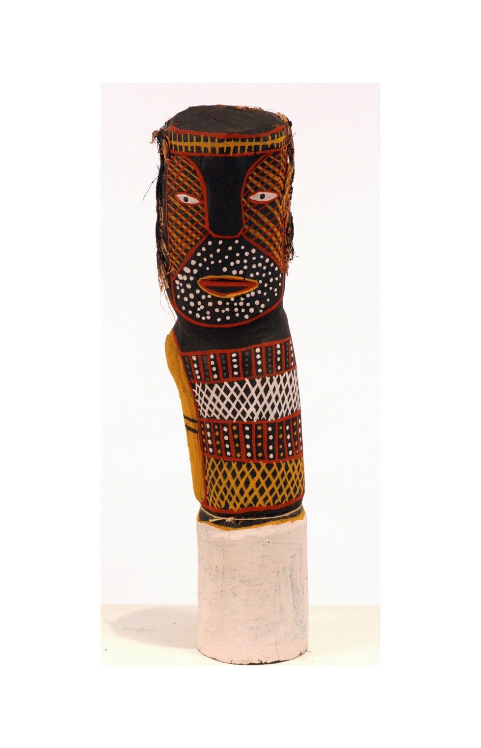 Australian aboriginal ironwood Bima Figure Carving Tiwi Island