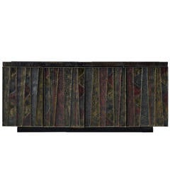 Sculpted Front credenza sideboard by Paul Evans