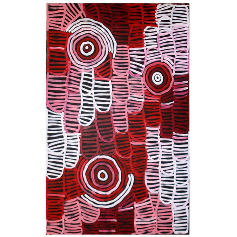 Australia Aboriginal painting Awelyewe- Atnwengerrp Dreaming by Minnie Pwerle For Sale