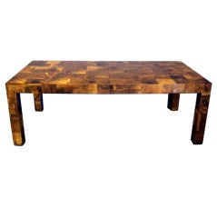 Large Extention Dining Table Patch Burl Wood Paul Evans