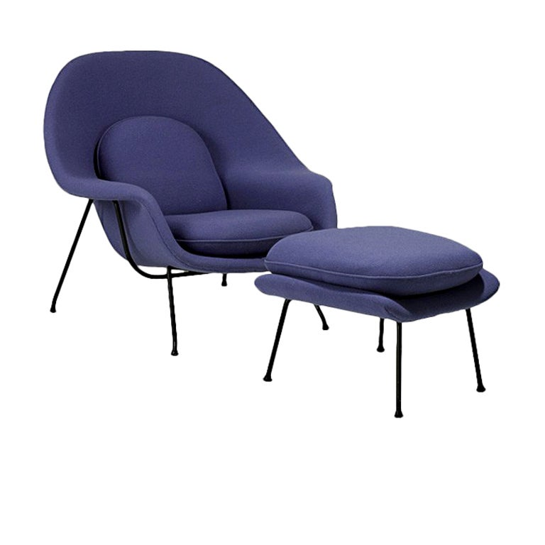 this vintage womb lounge chair and ottoman eero saarinen knoll is no