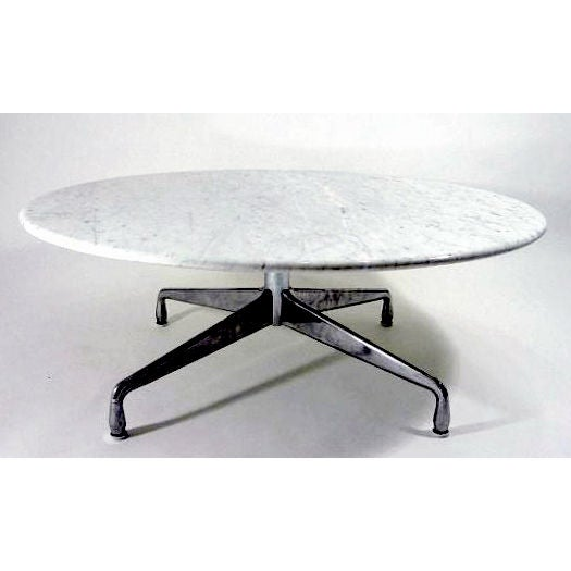 Eames Marble Coffee Table: Vintage Eames Aluminum Base Marble Top Coffee Table At 1stdibs