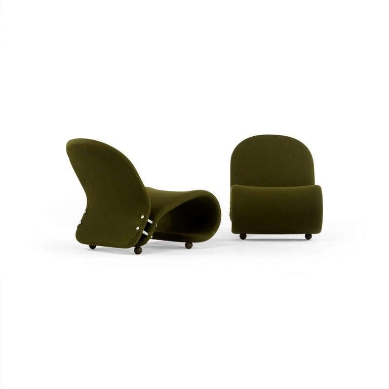 Pair lounge chair verner panton at 1stdibs - Chaise verner panton ...