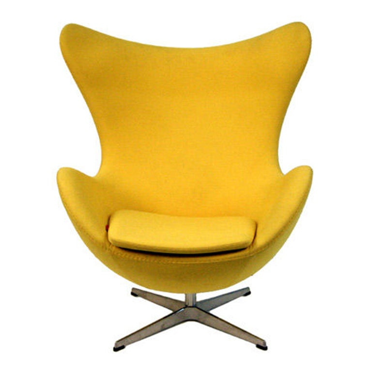 Original arne jacobsen egg chairs fritz hansen at 1stdibs for Egg chair original