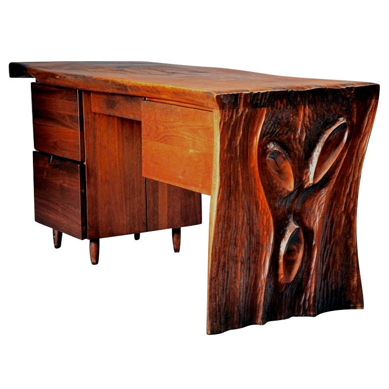 Walnut Desk by Phillip Lloyd Powell